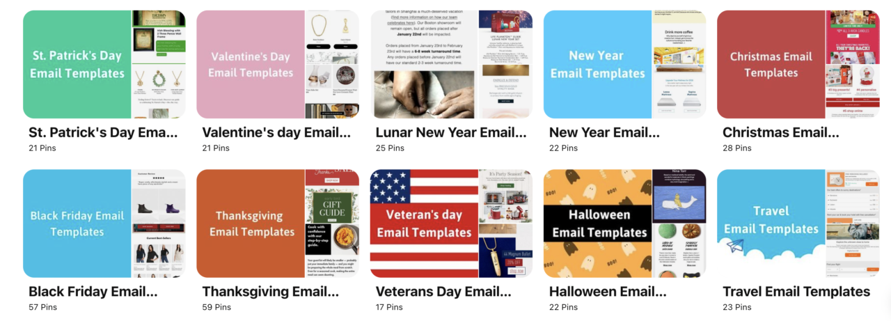 Chamaileon email design pinterest boards