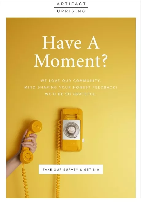 have a moment - survey email subject line