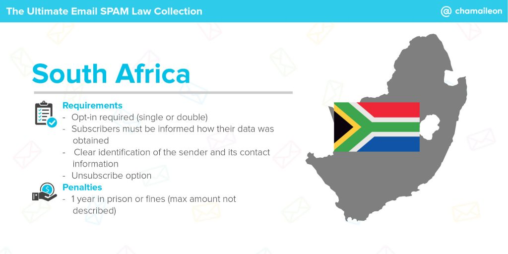 email spam law the republic of south africa