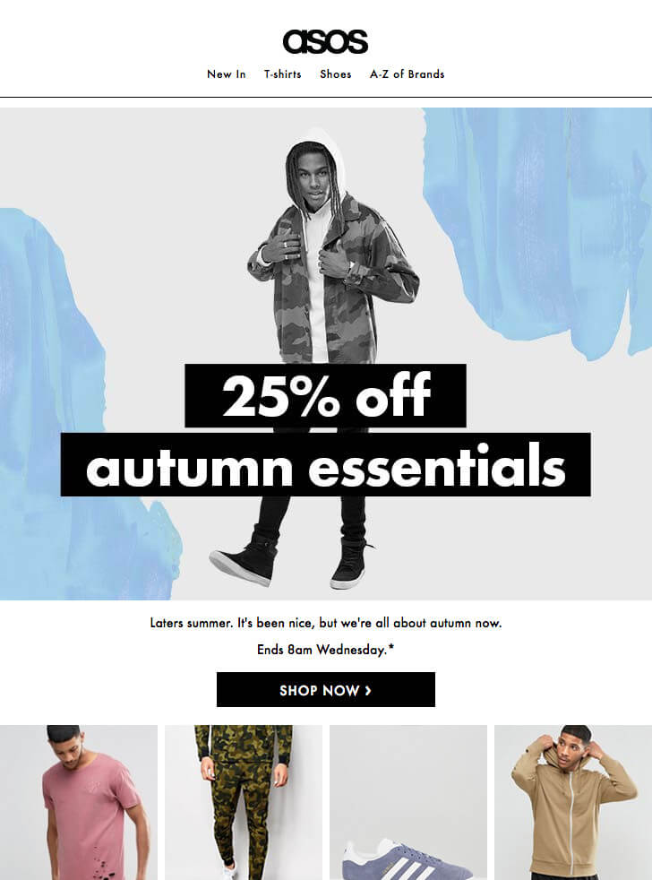 asos 728px width email template