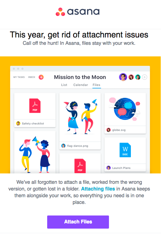 Asana welcome email part-4
