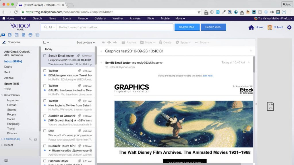 graphics 650px wide responsive newsletter template in yahoo mail