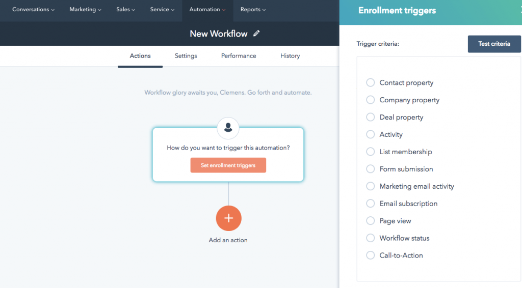 Hubspot-automated-email-workflow-