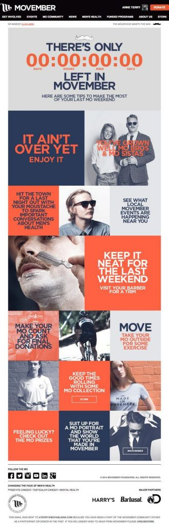 movember countdown email