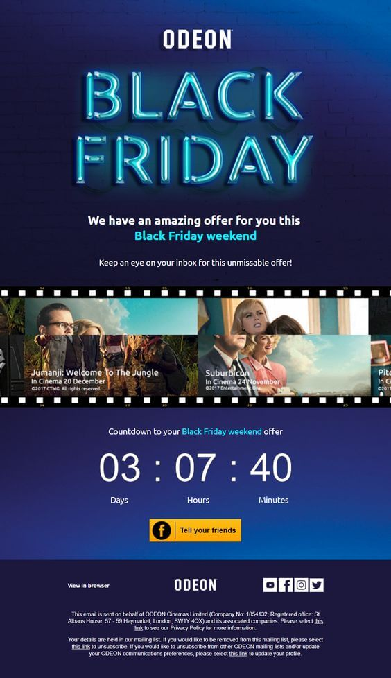 odeon black friday email