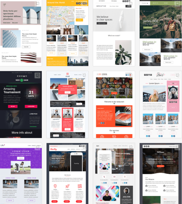 a collection of free responsive email templates