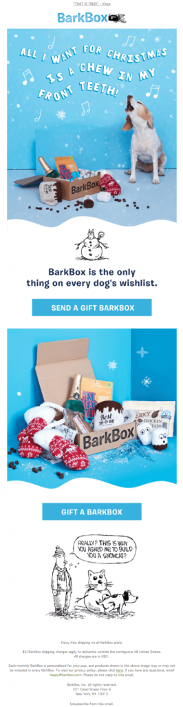 christmas email template barkbox