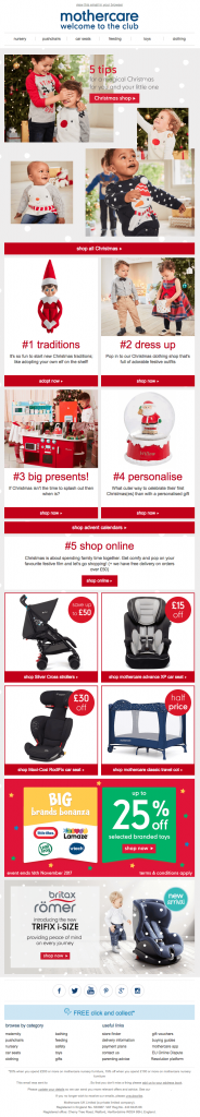 christmas email template mothercare