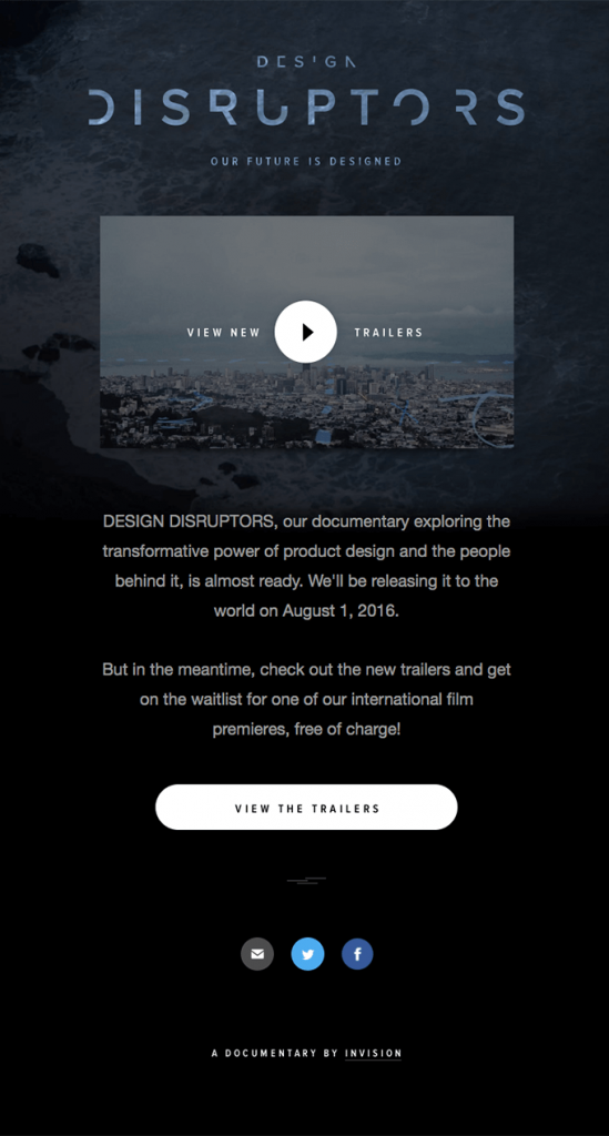 design-disruptors-drop-announcement-email