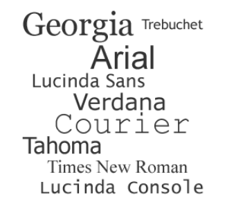 The best fonts for email: Times New Roman, Verdana, Georgia