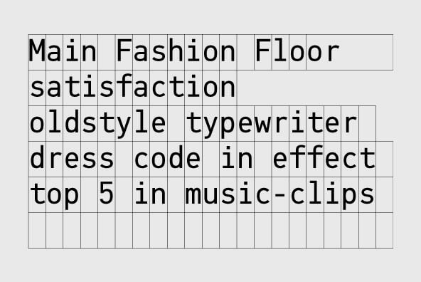 monospaced fonts