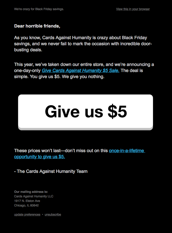 nothing-funny-black-friday-email