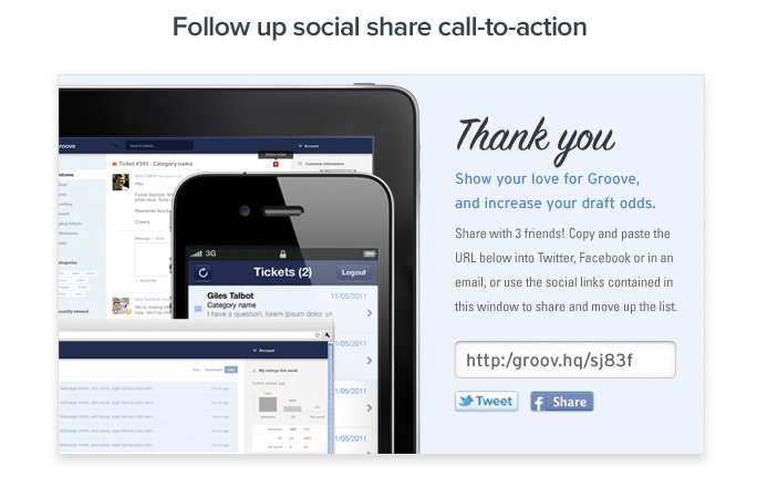 social share call-to-action