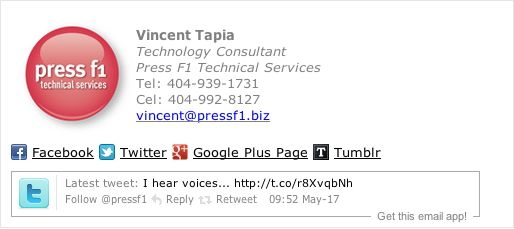 Technical service email signature