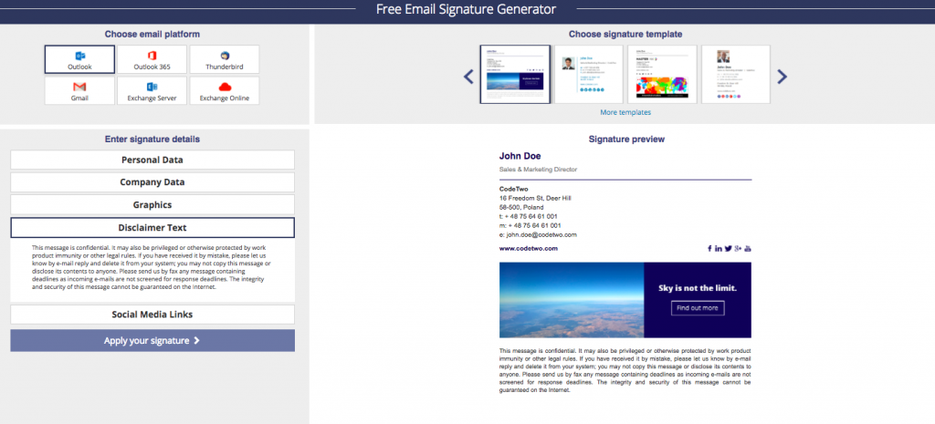 MAIL-Signatures.com email signature template