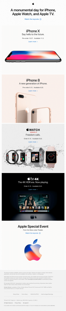 Apple-product-launch-email template example