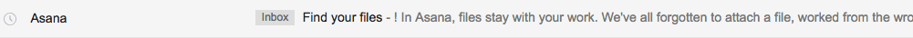 Asana's welcome email subject line example-part-4