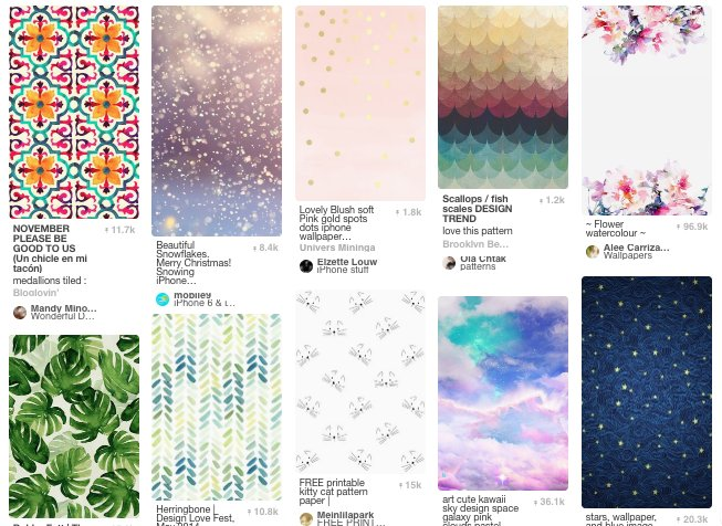 Pinterest email background patterns