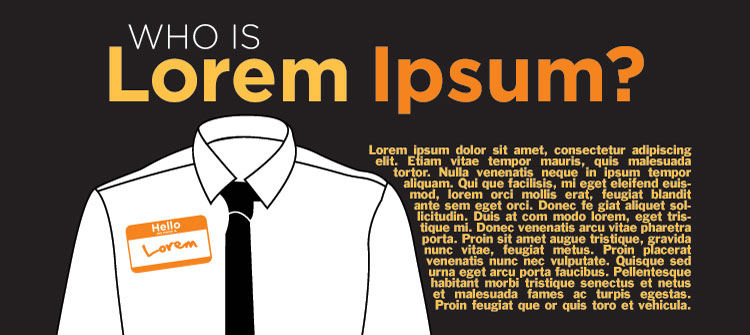 Email newsletter design example from Lorem Ipsum