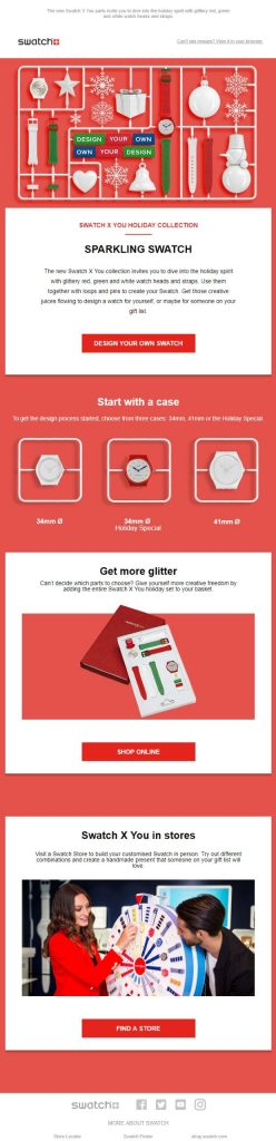 christmas email template swatch