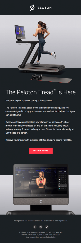 introducing-the-peloton-tread-email