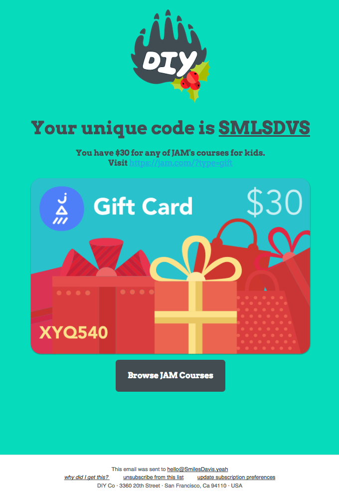 your-gift-card-email