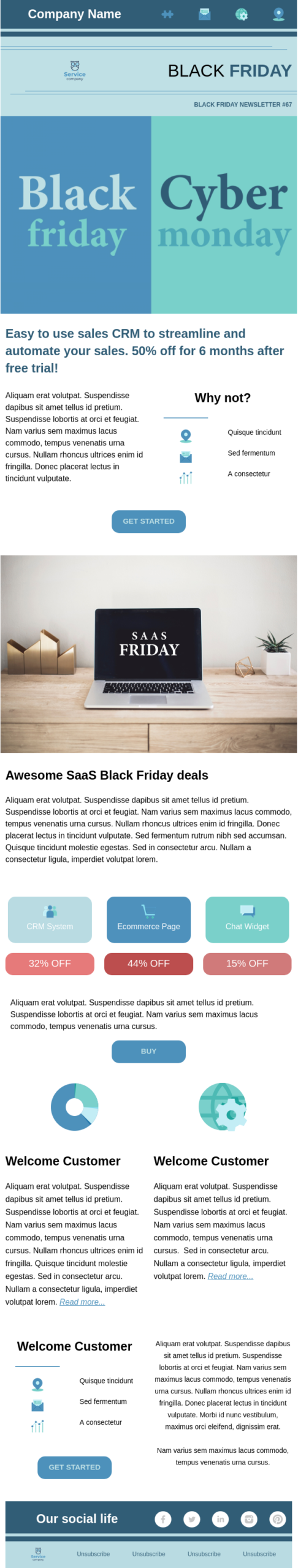 black friday email template, Black Friday & Cyber Monday Email Templates