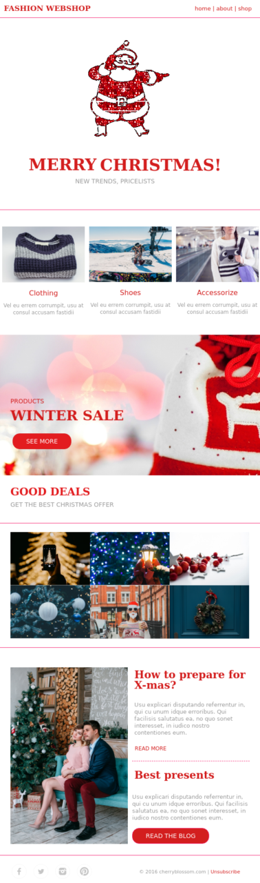 christmas email templates, Beautiful Christmas Email Templates, Ready to Use!
