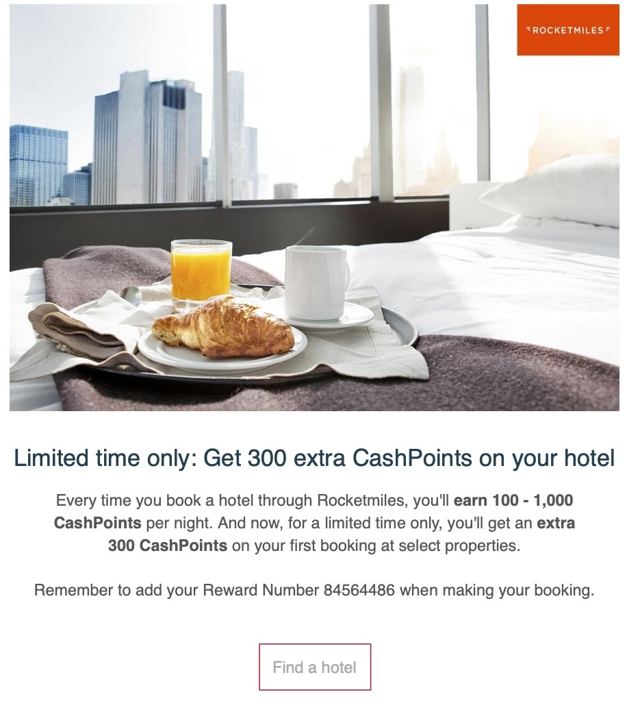 Hi Raymond! Here are this month's offers and great tips for earning CashPoints