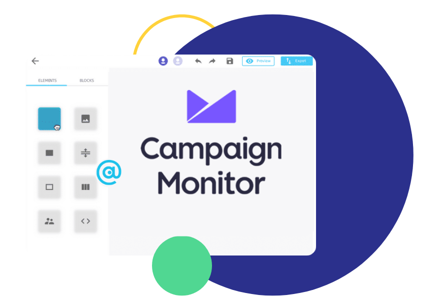 Campaign monitor email, Campaign Monitor Email Editor by Chamaileon
