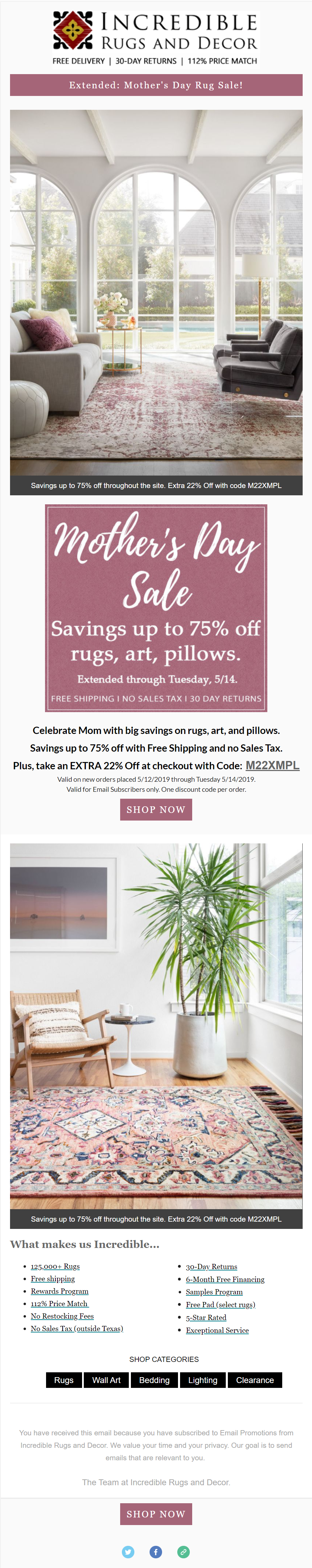 incrediblerugsanddecor-com-extended-mothers-day-up-to-75-off-free-shipping-no-tax-and-extra-22-off