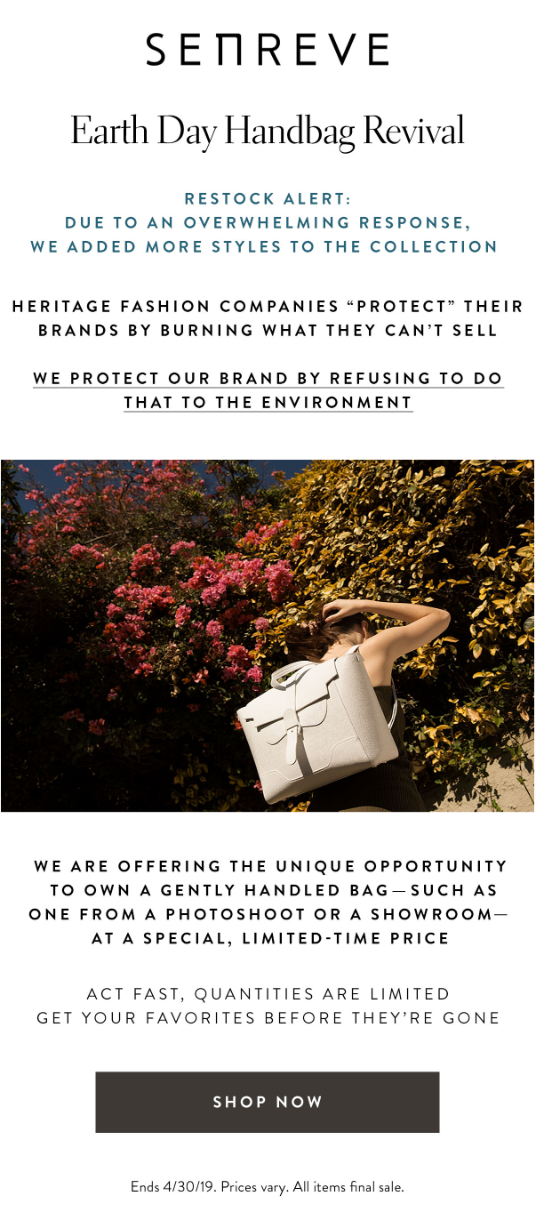 senreve-restock-alert-earth-day-handbag-revival