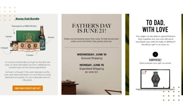 Father's day email marketing campaigns, subject lines & templates