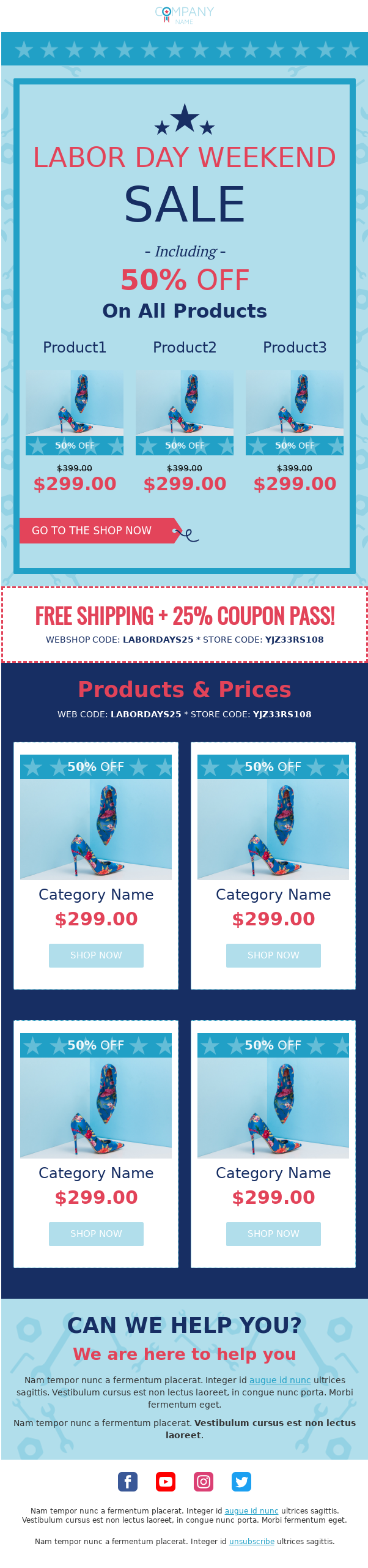 free email templates, Free Email Templates for All US Holidays: 4th Of July, Labor Day, Martin Luther King Jr. Day…