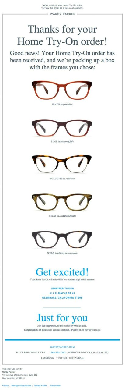 transactional-update-email-design-from-warby-parker