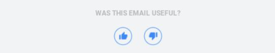 email rating in email footer