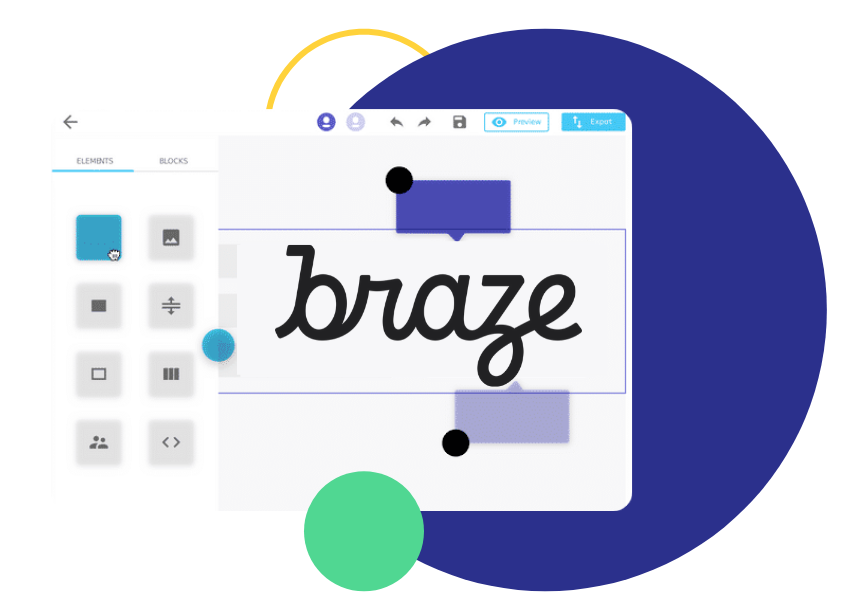 email builder for Braze, Email Builder for Braze | Design HTML Emails & Sync them to Braze