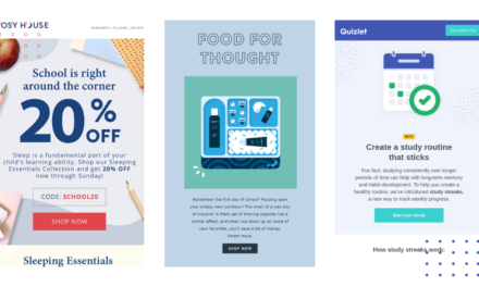 Back To School Email Marketing & Email Design Ideas