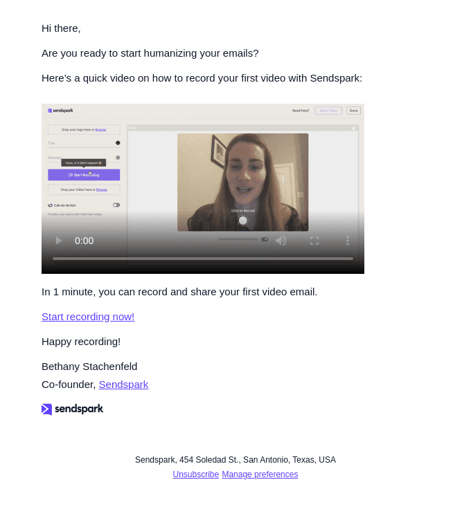 personalized video emails example