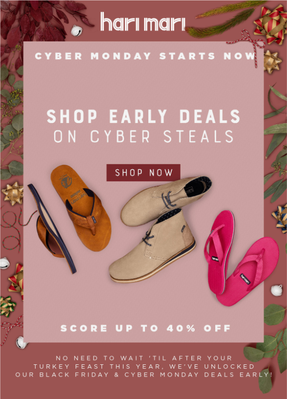 harimarishoes-early-deals-on-cyber-steals