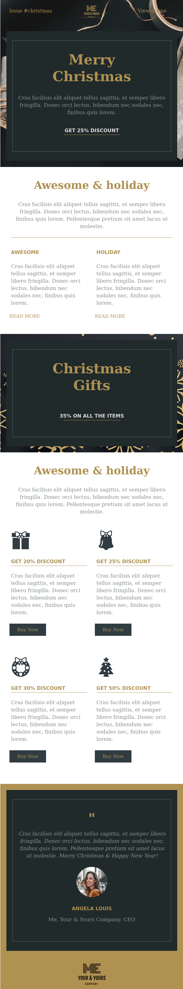 Christmas Email Template Ideas with 30+ Inspirational Examples