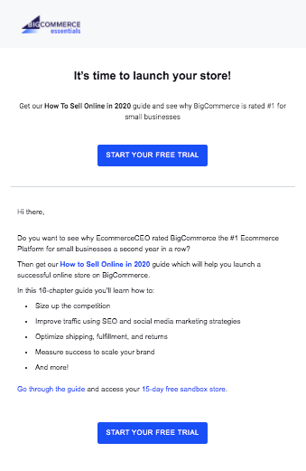free trial bigecommerce