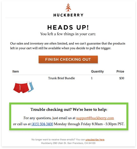 huckberry email