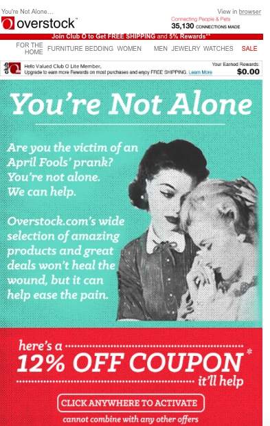 Are You The Victim of an April Fool's Prank