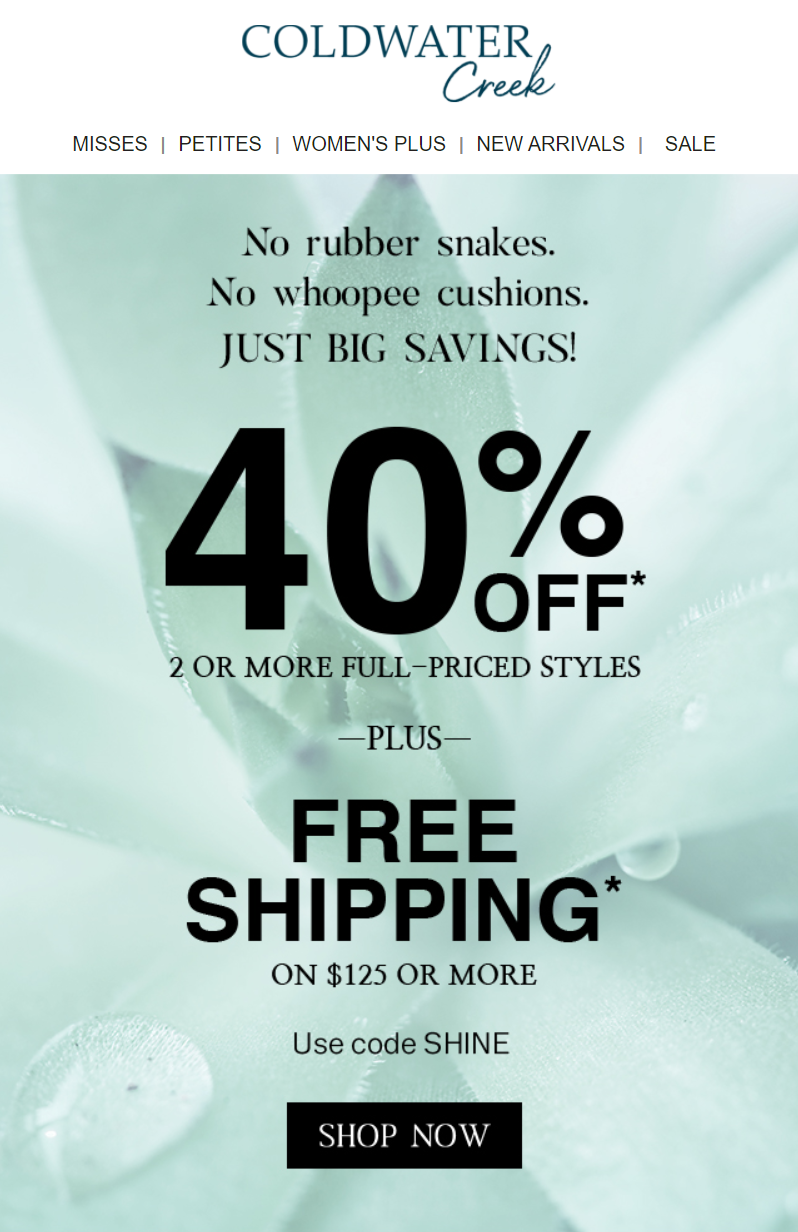 ColdwaterCreek-less-pranking-more-saving-40-off-and-free-shipping