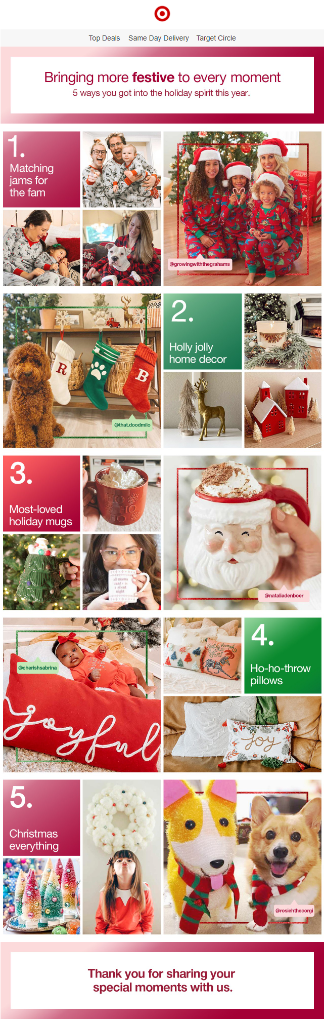 target-festive-ways-you-celebrated-the-season