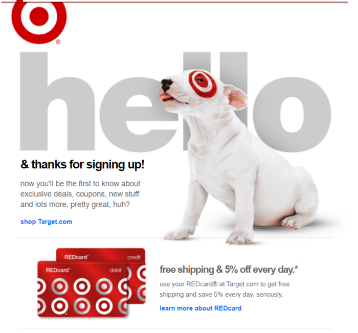 welcome to target!