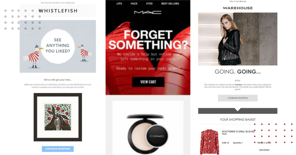 Cart Abandonment Email Best Practices Illustrated with 21 Examples