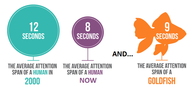 Human attention span is only 8 seconds